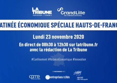 Inscrivez-vous à la matinée économique spéciale Hauts-de-France