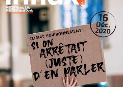 (Re)découvrez le magazine Influx du MEDEF Lille métropole sur le Climat et l'environnement
